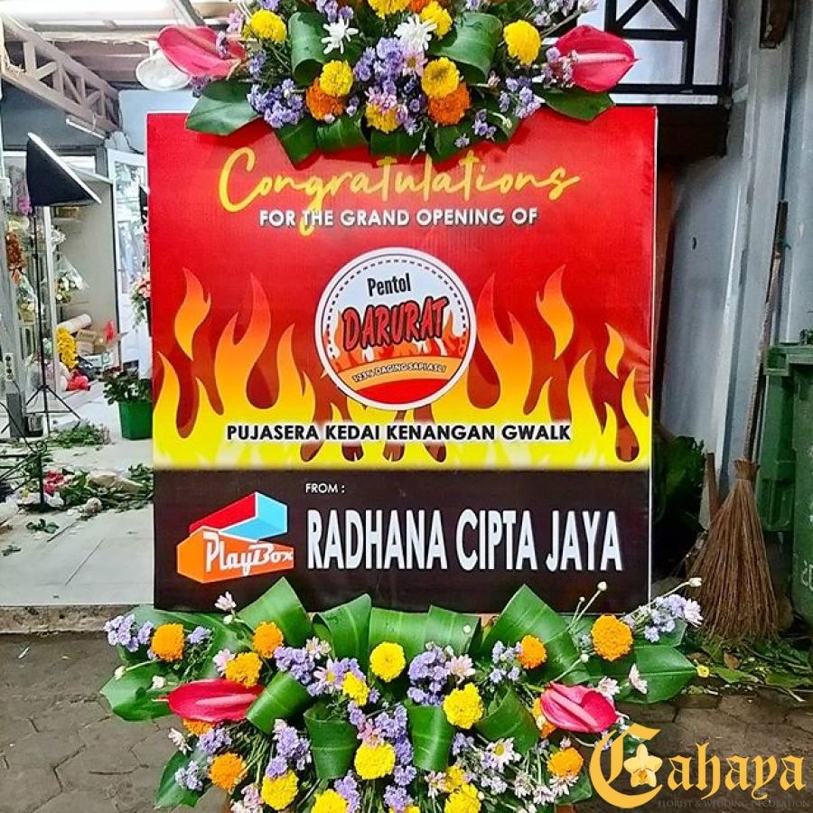 Papan Bunga Indoor Rp.450.000